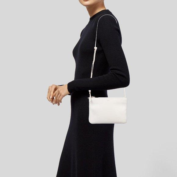 Celine Handbags - New CELINE PARIS Leather TRIO Crossbody Bag Purse